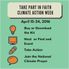 Faith Climate Action Week:  April 15 – 24, 2016