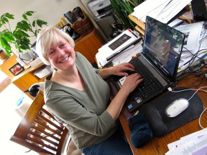 Susan at her desk